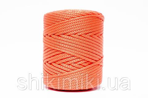 Трикотажный полиэфирный шнур PP Cord 5 mm,цвет оранжевый