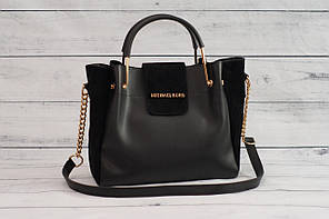 Женская замшевая mini сумка Mісhаеl Коrs (в стиле Майкл Корс), цвет черный ( код: IBG158B1 )