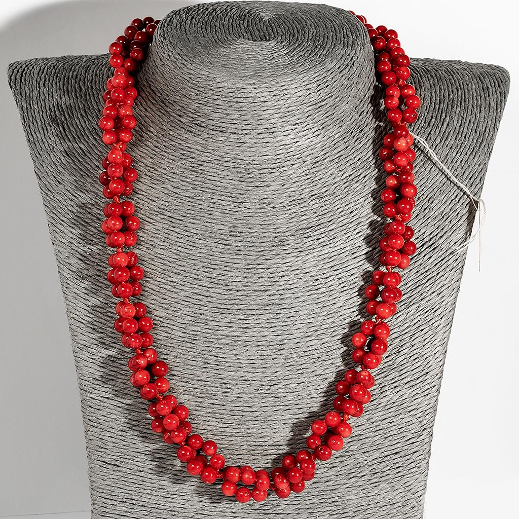 Коралл красный, Ø5,5 мм., бусы, 137ОК