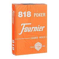 Карты для игры в покер Fournier Оранжевые, КОД: 258513