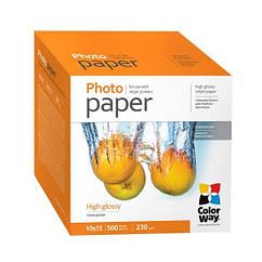 Фотопапір ColorWay 10x15 230г Glossy PG230-500 (PG2305004R)