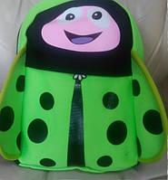 Рюкзак городской детский lady bug божья коровка зеленый