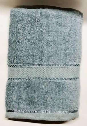 Полотенца однотонные (для гостинец) банные серого цвета (Венгрия), фото 2