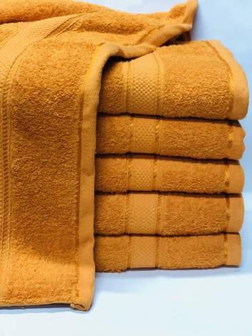 Полотенца однотонные (для гостинец) банные оранжевого цвета (Венгрия), фото 2