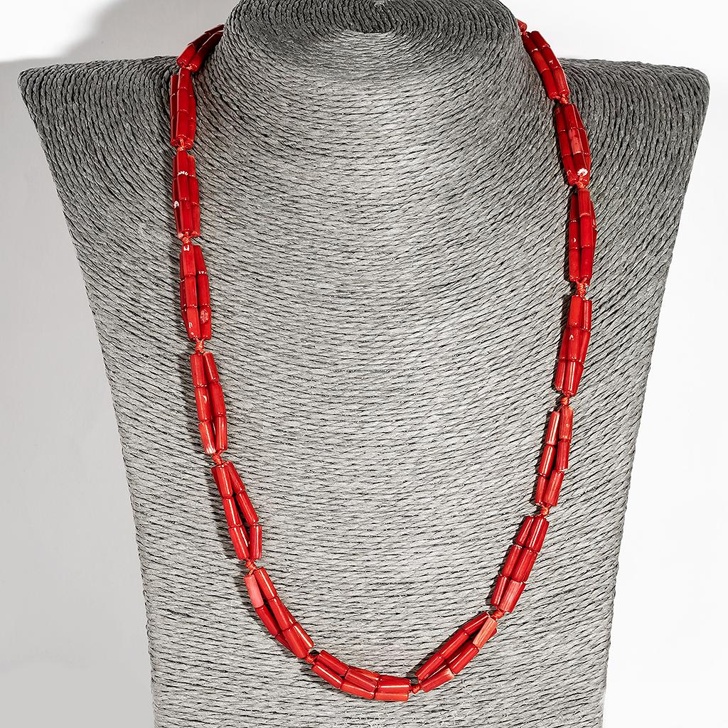 Червоний корал, намисто, 139ОК