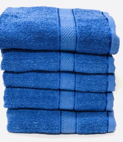 Полотенца однотонные (для гостинец) банные синего цвета (Венгрия), фото 2