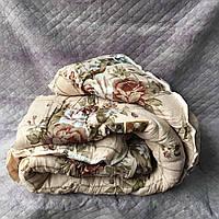 Одеяло двухспальное поликотон овечья шерсть бежевое