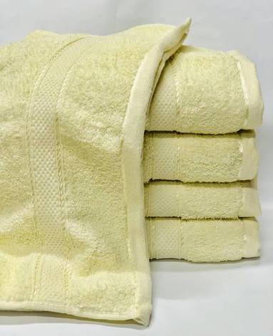 Полотенца однотонные (для гостинец) банные лимонного цвета (Венгрия), фото 2