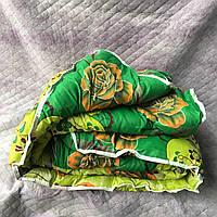 Одеяло двухспальное поликотон овечья шерсть зеленое