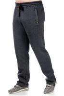 Теплые зимние, с начесом  мужские спортивные брюки _антрацит , р-р 48-54