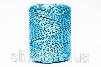 Трикотажный полиэфирный шнур PP Cord 5 mm,цвет Топаз