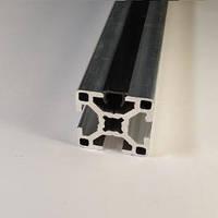 Заглушка лінійна під паз 8мм, чорний пластик