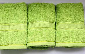 Полотенца однотонные (для гостинец) банные салатового цвета (Венгрия), фото 2