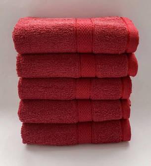 Полотенца однотонные (для гостинец) метровые бордового цвета (Венгрия), фото 2