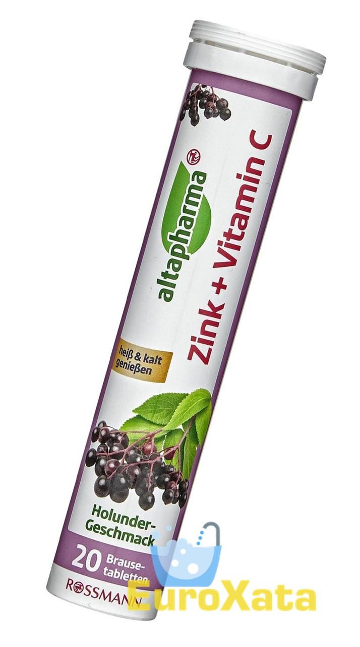 Витамины Altapharma Цинк + Витамин C шипучие таблетки (84г/20шт.) Германия