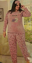 Пижама махрово-флисовая с длинным рукавом 50-52-54-56-58р ,доставка по Украине, фото 3