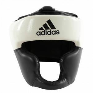 Боксерский шлем ADIDAS Response Pu Head Guard (бело-черный)