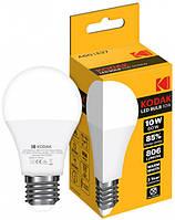 LED лампа Kodak A60 E27 10W 220V Тепл.Бел. 3000K Мат. н/Дим.