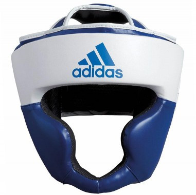 Боксерский шлем ADIDAS Response Pu Head Guard (бело-синий)