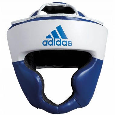 Боксерский шлем ADIDAS Response Pu Head Guard (бело-синий), фото 2