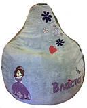 Кресло мешок груша МАША И МЕДВЕДЬ бескаркасная мебель детская пуф детский, фото 10