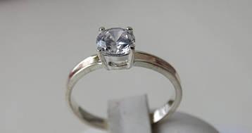 Классическое серебряное кольцо с золотыми пластинами