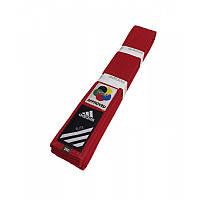 Пояс для кимоно Adidas серии ELITE WKF (Красный), фото 1