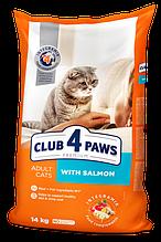 Клуб 4 лапи Преміум корм для котів з лососем 14 кг