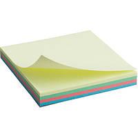 Блок паперу Axent 2325-01-A з клейким шаром 75x75 мм, 100 аркушів, пастельні кольори