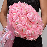 Букет из Raffaello. Букет из конфет. Подарок 14 февраля. Подарок девушке. Розовый букет. Оригинальный подарок