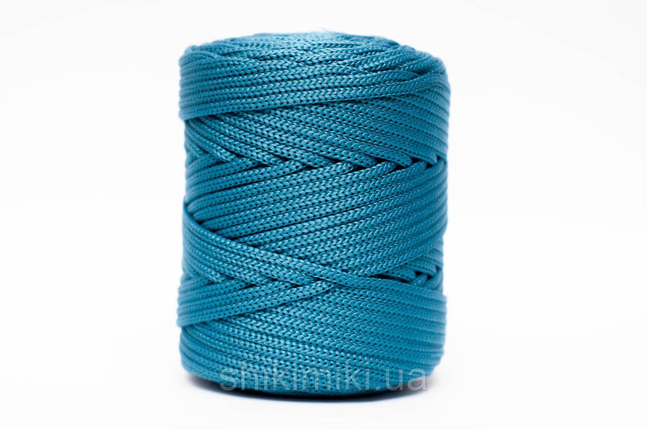 Трикотажный полипропиленовый шнур PP Cord 5 mm, цвет Морская волна