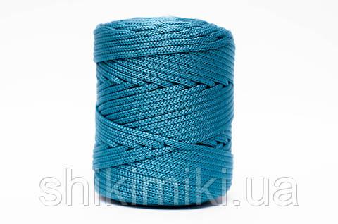 Трикотажный полиэфирный шнур PP Cord 5 mm,цвет морская волна