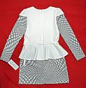 Платье кремовое Квадраты для девочки (Zibi, Польша), фото 3