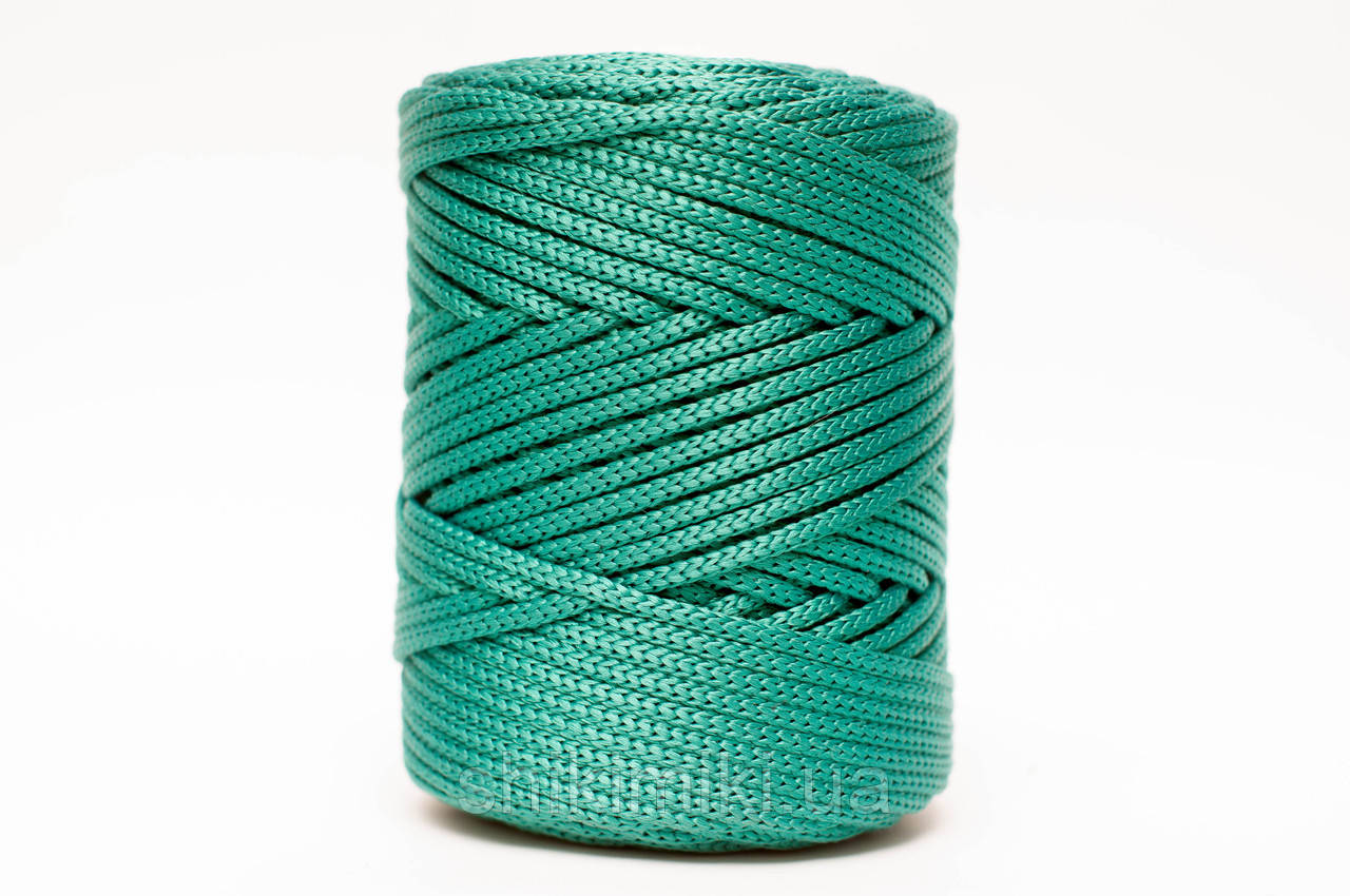 Трикотажный полипропиленовый шнур PP Cord 5 mm, цвет Изумрудный