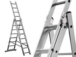 Лестница алюминий 3х9 HIGHER 505 см