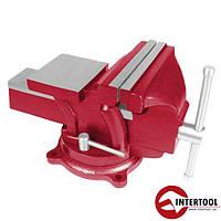 Тиски слесарные поворотные Intertool HT-0052 125мм