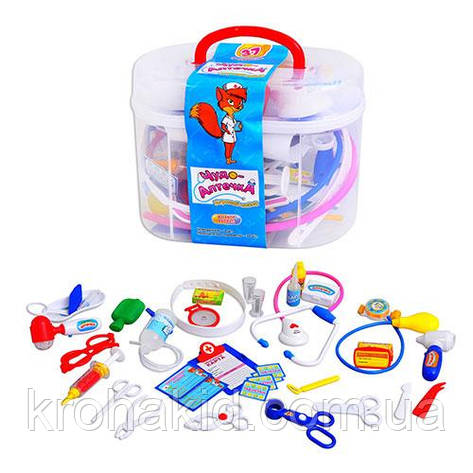 """Игровой набор доктора """"Чудо-аптечка"""" (M 0461 U/R), 36 предметов в чемоданчике, фото 2"""