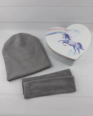 Подарочный набор шапка-чулок и нарукавники, фото 2