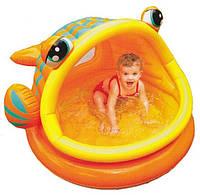 """Детский надувной бассейн Intex 57109 """"Рыбка"""" (124 х 109 х 71 см.)"""