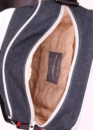 Мужская джинсовая сумка POOLPARTY с ремнем, фото 2
