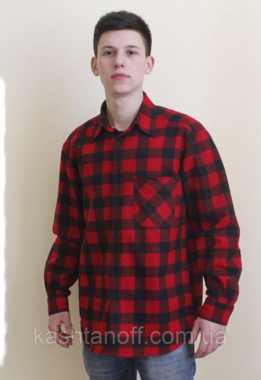 d652ca597f8 Фланелевая рубашка красная в клетку  продажа