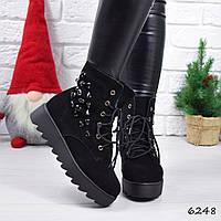Ботинки женские Derry черные, фото 1