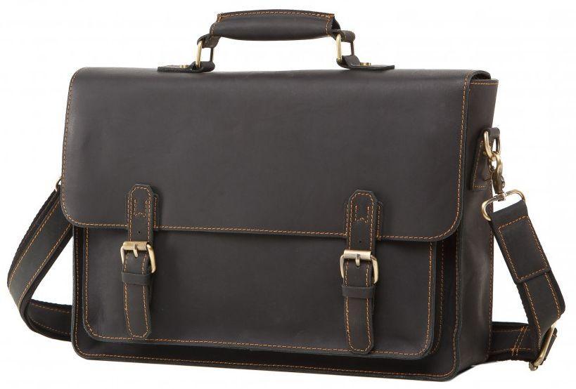 fa9c1f34fce9 Мужской кожаный портфель TIDING BAG 7205A, черный — только ...