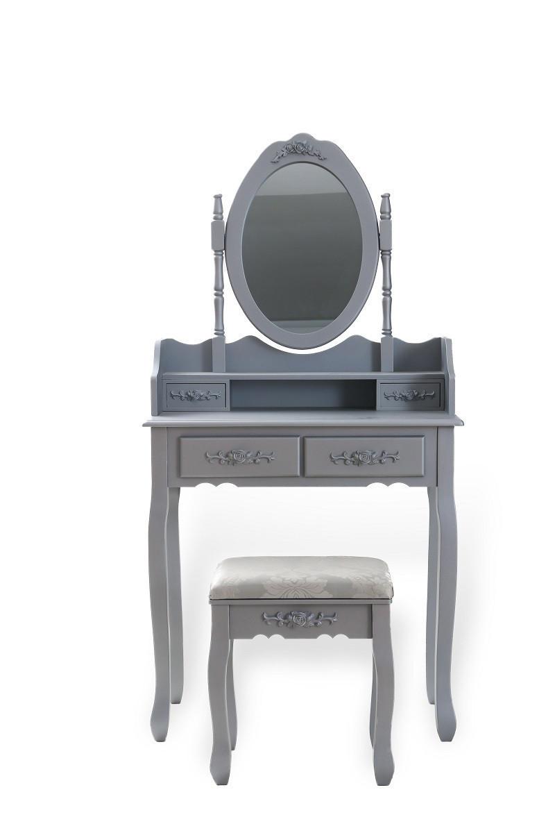 Туалетний столик темно-сірий + стілець