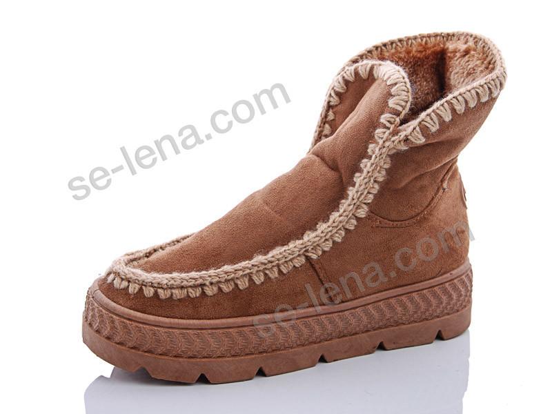 Ботинки №B 02 рыжий (р.36-41).Опт.