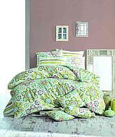 Постельное белье 200x220 Majoli Ornament Green