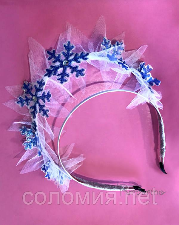 Коронка Синие Снежинки