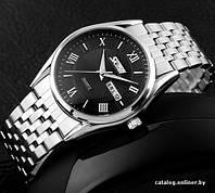 Мужские наручные часы SKMEI 9102 черный с серебристым, фото 1
