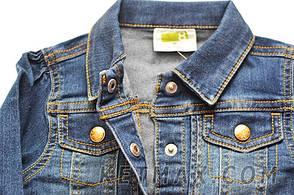 Джинсовая куртка Crazy 8 для девочки, фото 2