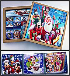 Шоколаднй подарунковий набір Веселих свят для дітей 120 грам. Солодкий подарунок дітям на Новий рік, Миколая.